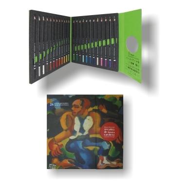 24 lápis de cor aguareláveis | Cor